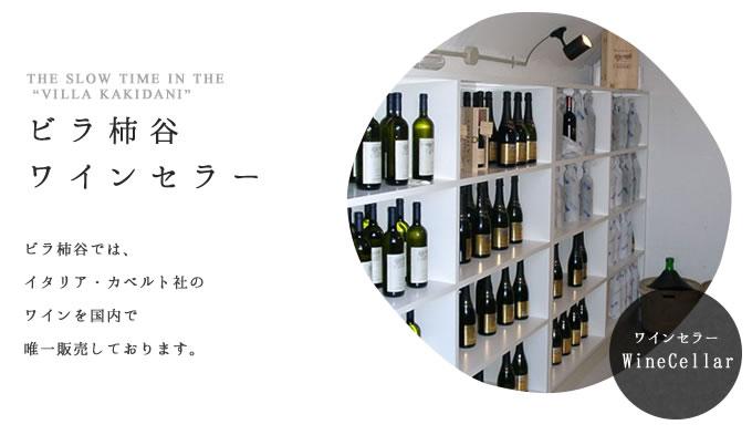 ビラ柿谷のワインセラー